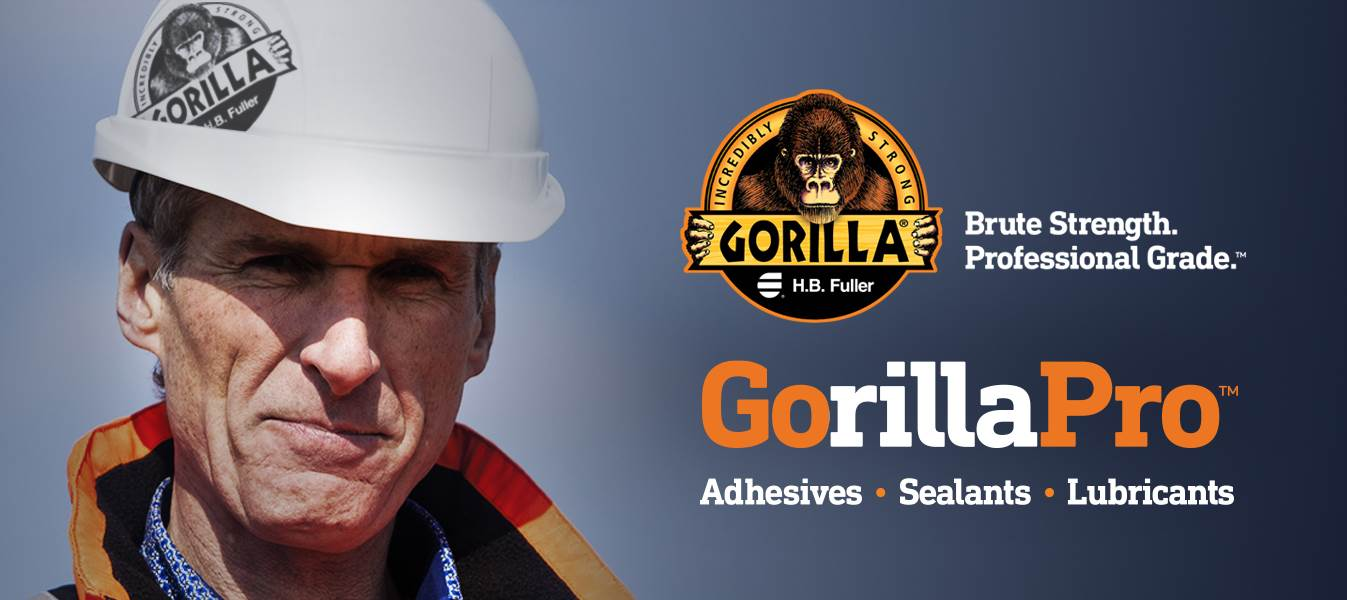 H.B. Fuller's line of GorillaPro adhesives, sealants and lubricants.